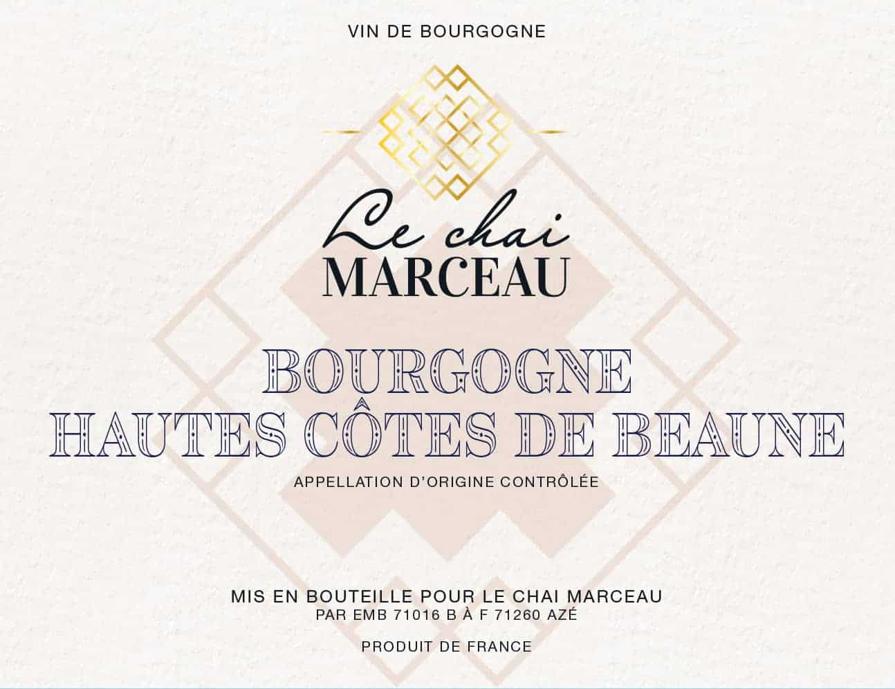 Front Label of Hautes Côtes de Beaune