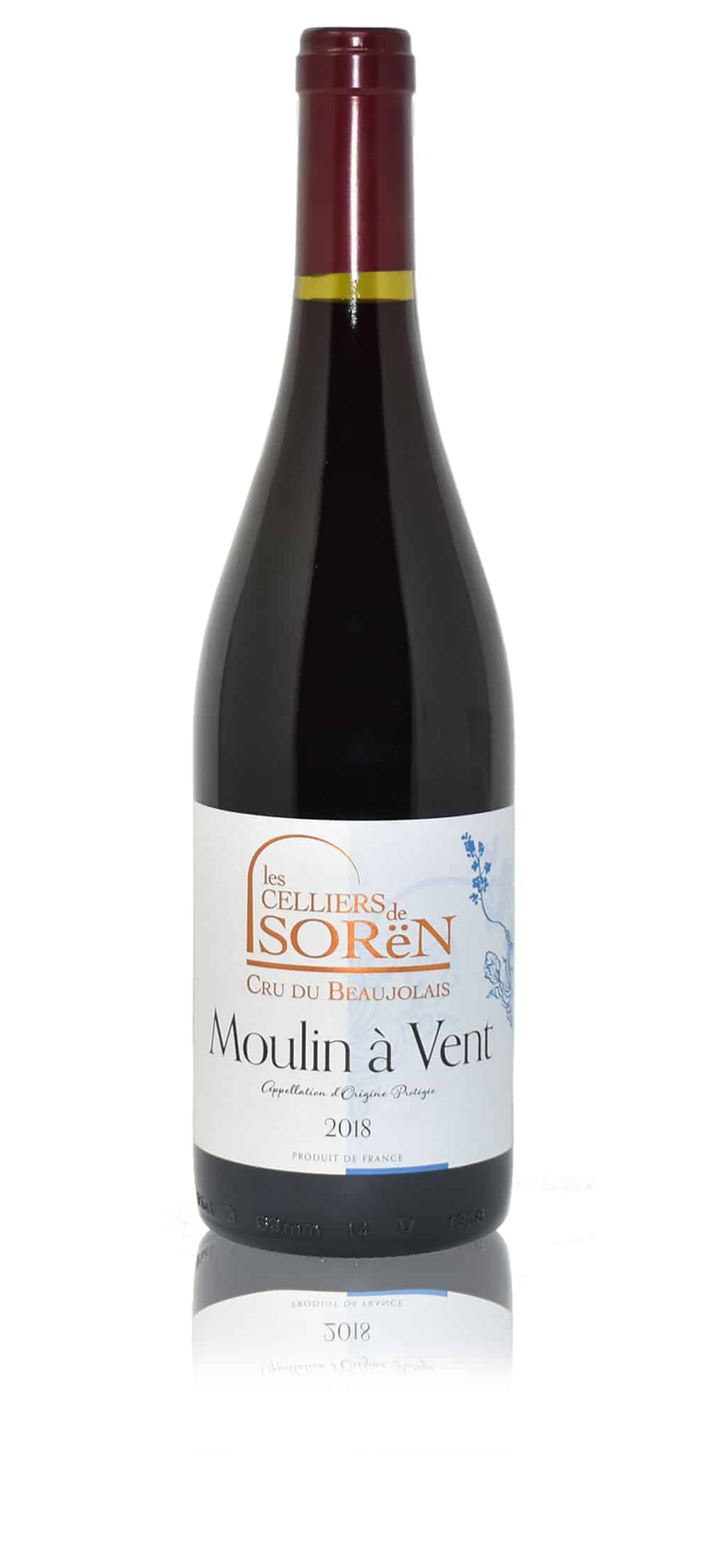 An image of Les Celliers de Sorën Moulin à Vent wine from Beaujolais