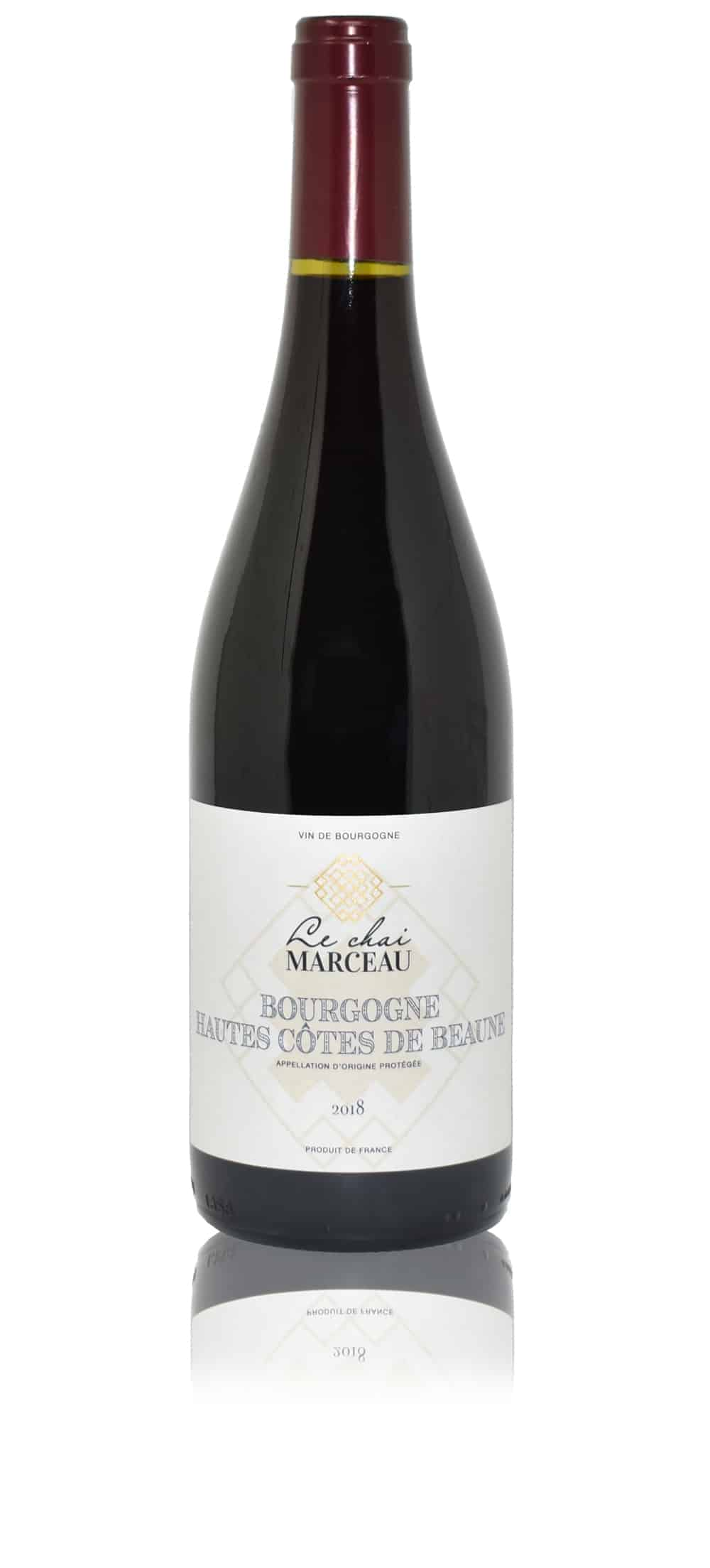 A bottle of Le Chai Marceau Hautes Côtes de Beaune wine